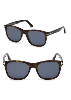 Tom Ford 55MM Eric Squared Tortoise Shell Sunglasses