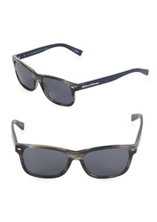 Ermenegildo Zegna 56MM Rectangle Sunglasses