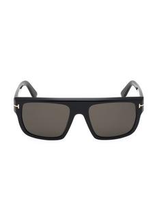 Tom Ford 57MM Alessio Square Sunglasses