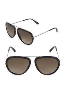 Tom Ford 57MM Aviator Sunglasses