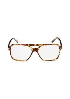 Tom Ford 57MM Blue Light Square Optical Glasses
