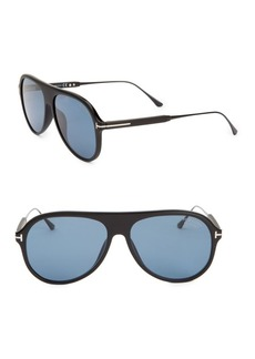 Tom Ford 57MM Injected Aviator Sunglasses