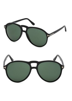 Tom Ford 57MM Round Sunglasses