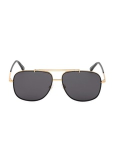 Tom Ford 58MM Metal Aviator Sunglasses