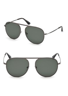 Tom Ford Jason 59MM Aviator Sunglasses