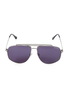 Tom Ford 59MM Browline Squared Aviator Sunglasses