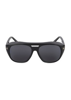 Tom Ford 59MM Injected Shield Sunglasses