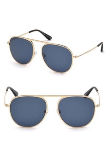 Tom Ford Jason 59MM Metal Aviator Sunglasses