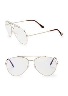 Tom Ford 60MM Blue Block Aviator Sunglasses