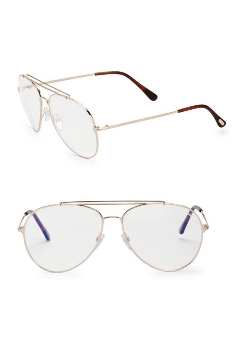 77acec80b67c3 Tom Ford 60MM Blue Block Aviator Sunglasses