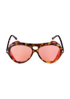 Tom Ford 60MM Plastic Pilot Sunglasses