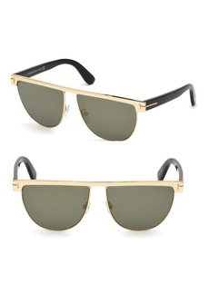 Tom Ford 60MM Stephanie Shiny Gold Sunglasses