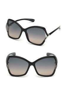 Tom Ford 61MM Astrid Oversized Smoke Lens Sunglasses