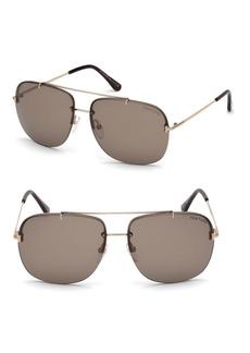 Tom Ford 62MM Square Aviator Sunglasses