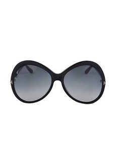 Tom Ford 63MM Oversized Oval Sunglasses