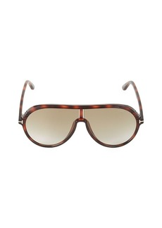 Tom Ford 63MM Tortoiseshell Shield Sunglasses