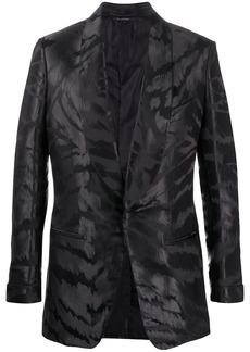 Tom Ford abstract-jacquard satin tuxedo jacket