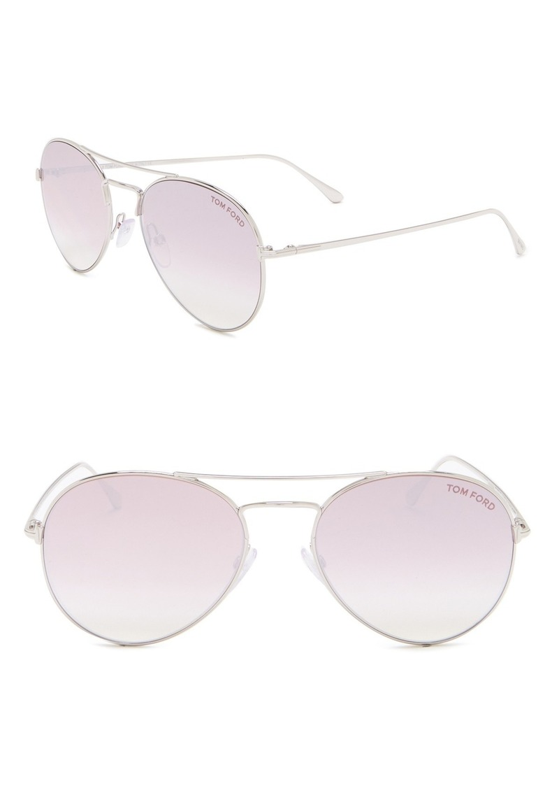 Tom Ford Ace 55mm Aviator Sunglasses