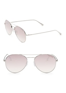 Ace 55MM Mirrored Aviator Sunglasses