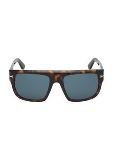 Tom Ford Alessio 57MM Square Havana Sunglasses