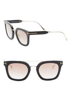 Tom Ford Alex 51MM Mirrored Square Sunglasses