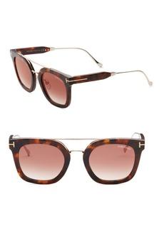 Alex 51MM Mirrored Square Sunglasses