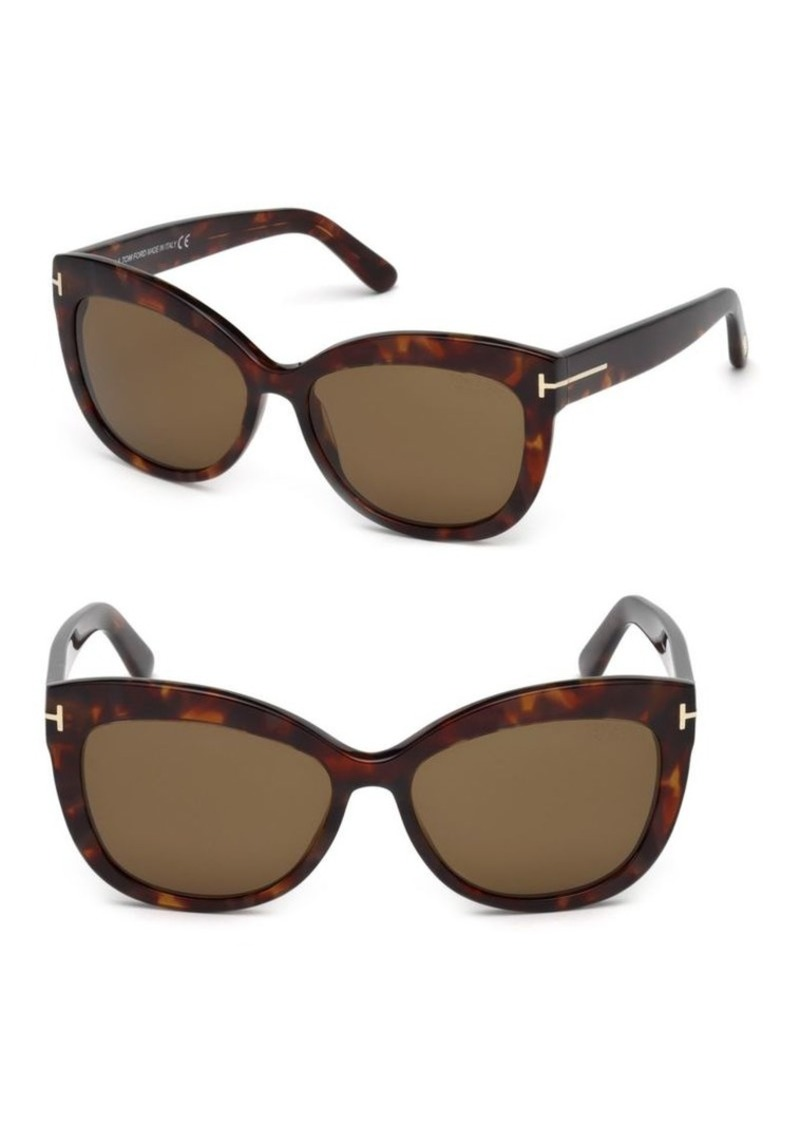 fd15e3450fe Tom Ford Alistair 56MM Cat Eye Sunglasses
