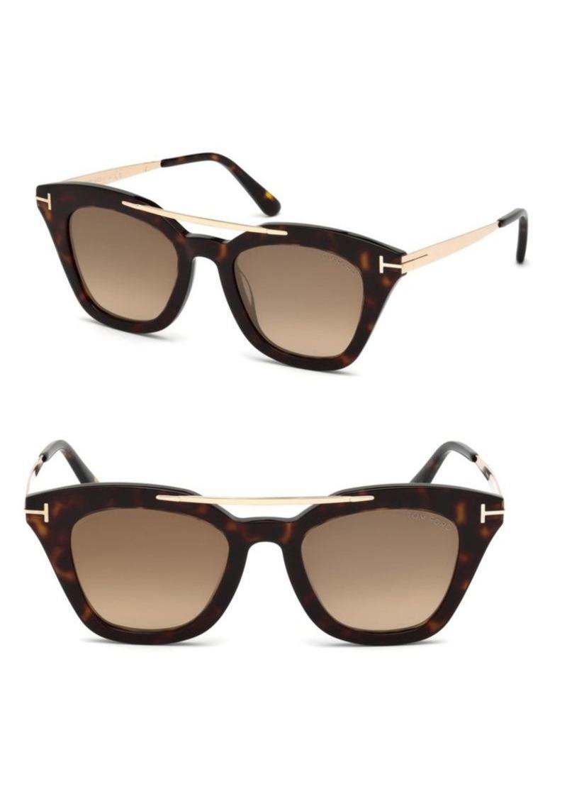 4bed0012f8187 Tom Ford Anna Cat Eye Sunglasses