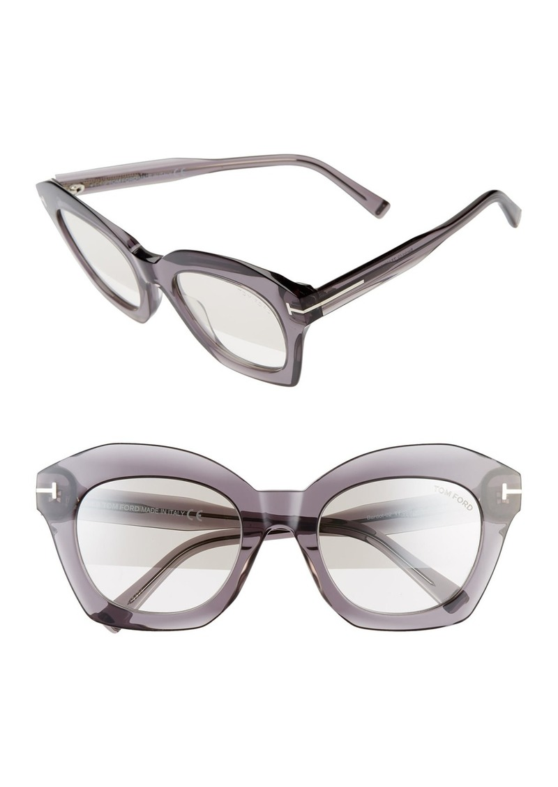 Tom Ford Bardot 53mm Square Sunglasses