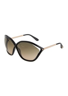 Tom Ford Bella Oversized Open-Inset Sunglasses