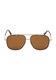 Tom Ford Benton 58MM Aviator Sunglasses