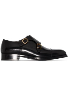 Tom Ford buckle-strap leather monk shoes