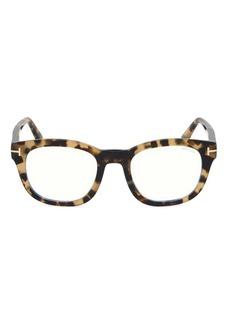 Tom Ford Blue Block 50MM Square Sunglasses