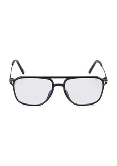 Tom Ford Blue Block 54MM Square Injected Glasses