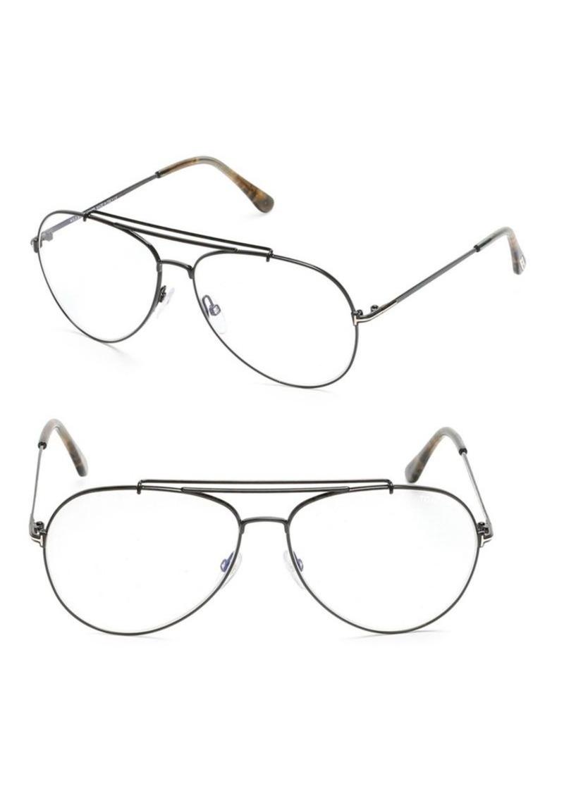 65c845d67542 Tom Ford Blue Block 60MM Aviator Optical Glasses