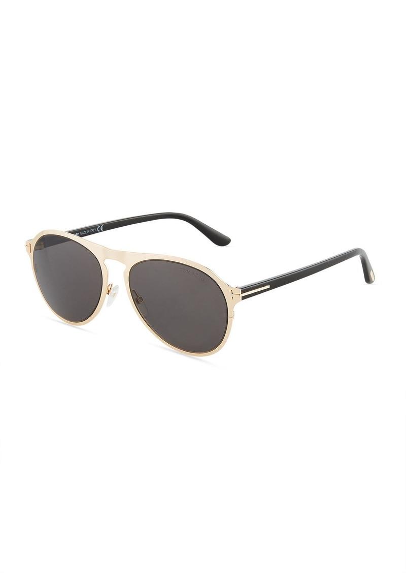 958d6c65a Tom Ford Bradburry Metal/Acetate Aviator Sunglasses | Sunglasses