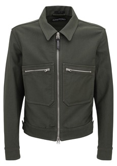 Tom Ford Brush Cotton Washed Shirt Jacket