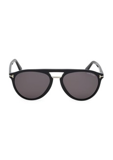 Tom Ford Burton 59MM Rounded Aviator Sunglasses