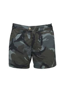Tom Ford Camo Nylon Faille Classic Swim Shorts