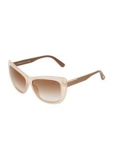 Tom Ford Cat Eye Plastic Sunglasses