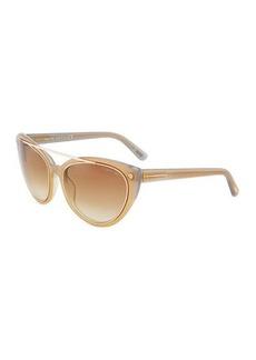 Tom Ford Cat-Eye Plastic Sunglasses