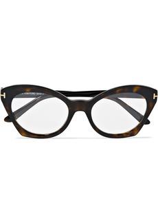 Tom Ford Cat-eye Tortoiseshell Acetate Optical Glasses