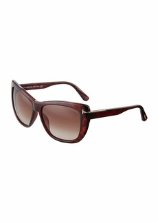 Tom Ford Cat-Eye Tortoiseshell Plastic Sunglasses