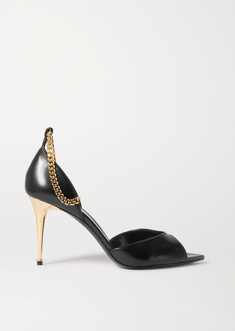 Tom Ford Chain-embellished Leather Sandals