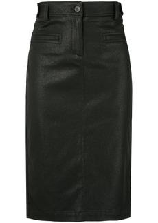 Tom Ford coated biker pencil skirt