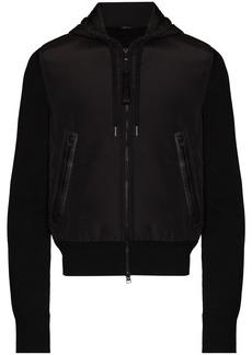 Tom Ford contrast-panel zip-up hoodie