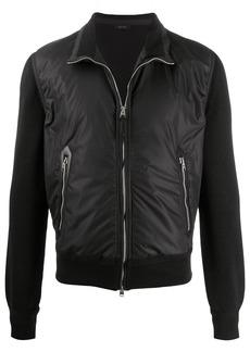 Tom Ford contrast sleeve bomber jacket