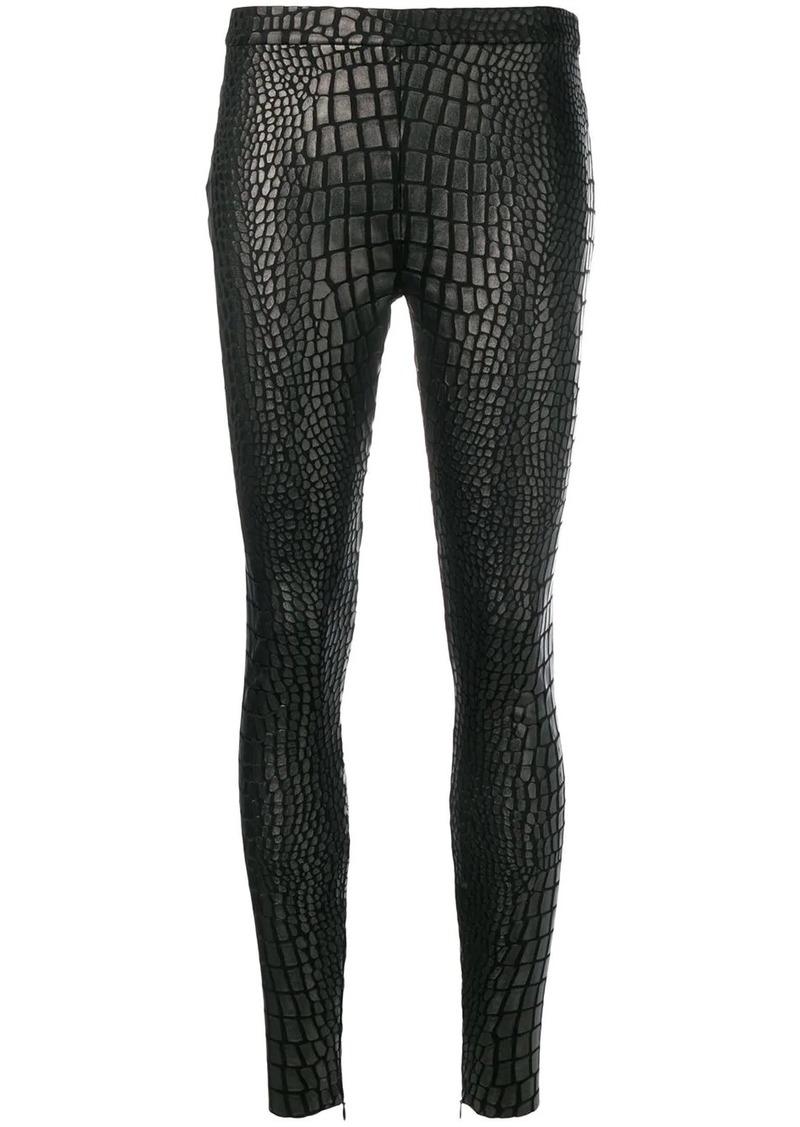 Tom Ford croc-effect leggings