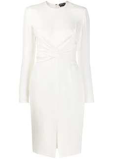 Tom Ford crossed detail fitted dress