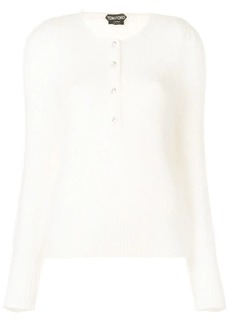Tom Ford crystal-button sweater